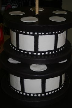 Film reels made for a red carpet party