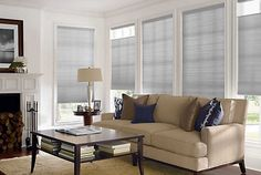 Top Down Bottom Up Honeycomb Shades Honeycomb Shades, Cellular Shades, Modern Blinds, Couch, Windows, Curtains, Shades Blinds, Furniture, Home Decor