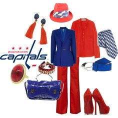 Washington Capitals, created by lateefah-yallknowme-brown on Polyvore