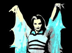 Munsters Lily Munster Vampiress Yvonne De Carlo Icon Icons Emoticon Emoticons Animated Animation Animations Gif Gifs Happy Halloween photo flap_lily.gif