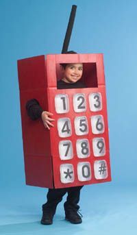 """Diy TLC Family """"Cell Phone Costume"""""""