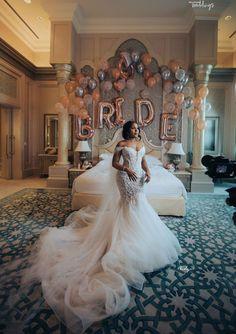 Kani and Adewale's destination wedding in Abu Dhabi is serving major goals in every way. Plus Wedding Dresses, Bridal Dresses, Bridesmaid Dresses, Wedding Goals, Wedding Day, Us Destination Wedding, Wedding Rustic, Wedding Beauty, Black Bride