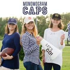 Tailgate Hats - Black Monogrammed Hat, Monogram Cap, College Football, Tailgate Party, Football Accessories, SC Gamecocks, Georgia Bulldogs by LilyLouiseDesigns on Etsy