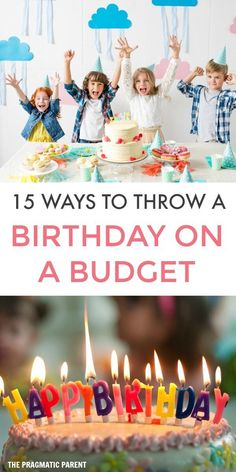 15 Tips for Throwing a Birthday Party on a Budget Birthday Activities, Birthday Party Games, Boy Birthday, Birthday Ideas, Birthday Parties For Kids, Party Themes For Kids, Free Birthday, Kid Parties, Theme Parties