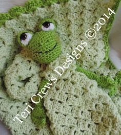 New: Teri Crews Designs: Frog Huggy Blanket New Crochet Pattern
