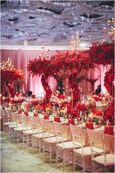 Five questions with lily chew of wishing tree luxurious spiraling red floral wedding table decor five questions with lily chew of wishing junglespirit Choice Image