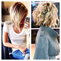 Straight & curly. Growing my hair out to this style.