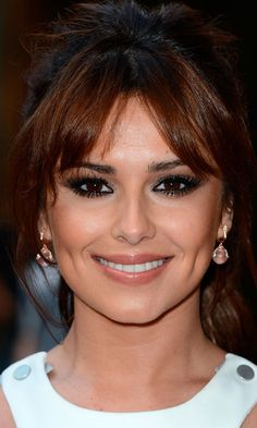 Cheryl Cole's Hairstyle Looked Fab With A Parted Fringe, 2012