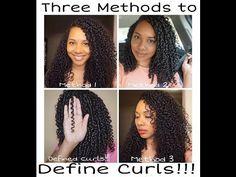 How To Define Curls l 3 Methods for Natural Hair Curl Definition - https://blackhairinformation.com/video-gallery/define-curls-l-3-methods-natural-hair-curl-definition/