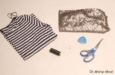 Cómo hacer una camiseta de lentejuelas DIY