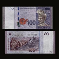 89c4263f1f Banknote  Malaysia 100 Ringgit 2012. Unc Money Banknotes