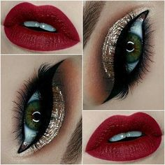 Classic Holiday Glam - Gold & Red