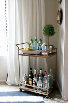 if and when we give back nanas dining room table, put a bar cart in the dining room.