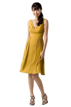 Wtoo 784 Bridesmaid Dress | Weddington Way goldenrod, chiffon