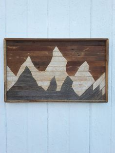 Past Reclaimed Wood Wall Art Small Mountain Range by PastReclaimed