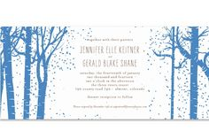 Beautiful Winter Wedding Invitations and Gift Tags | Green Bride Guide
