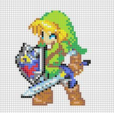 Link Pixel Art Grid by ~Hama-Girl on deviantART