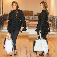 All Black - Marjorie Harvey The Lady Loves Couture, Love Couture, Dope Fashion, Fashion Line, Style And Grace, Love Her Style, Steve Harvey Family, Lori Harvey, Majorie Harvey