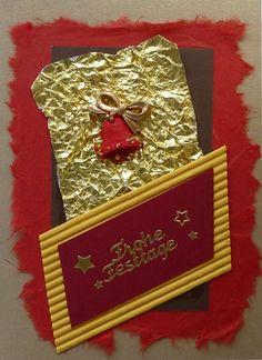 Weihnachtskarte mit goldener Glocke