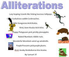 Australian Animals Alliteration Poems » Samuel