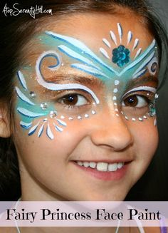 Halloween face painting • fairies and princesses: Step by step tutorial with photos. So pretty & easy to do.