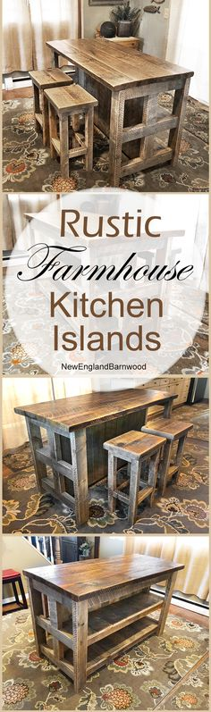 Wow! Now this is a Rustic Farmhouse Kitchen Island! I love it!!!  There's nothing out there like this!! #simplyrusticfurnishings #kitchen #rustic #rustickitchen #kitchenisland #remodel #kitchendesign #kitchenrenovation #2018 #rustickitchenisland #cabinlife #countryliving #farmhousestyle #country #onlineshopping #newinstagram #newbie #pinterest #shoponline #diyhomedecor #diykitchen #renovation