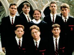 Dead Poets Society--reminds me so much of the last 2 years of high school. reminds me of my classmates and our awesome homeroom advisor, Aris, who's taught us so much. Carpe Diem! love this movie.