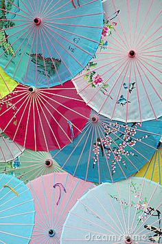 Japanese umbrellas.