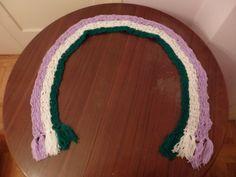 Genderqueer Pride Flag Crochet Scarf by DigenisFashionShop on Etsy