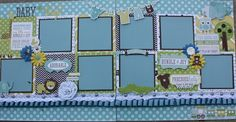 Good morning and happy Friday! I want to share two more baby layouts I designed for Treasured Memories. The papers are from the Bundle of J. Baby Boy Scrapbook, Baby Scrapbook Pages, Picture Scrapbook, Beach Scrapbook Layouts, Scrapbook Sketches, Scrapbooking Layouts, Scrapbook Designs, Baby Mini Album, Scrapbook Generation