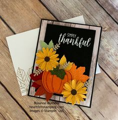 Rosanne Mulhern, Independent Stampin' Up Demonstrator Diy Thanksgiving Cards, Fall Cards, Holiday Cards, Christmas Cards, Sunflower Cards, Leaf Cards, Stamping Up Cards, Halloween Cards, Creative Cards