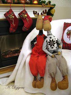 Animales de juguete, hechos a mano.  Feria Masters - hecho a mano Una fría noche de invierno ....  Hecho a mano.