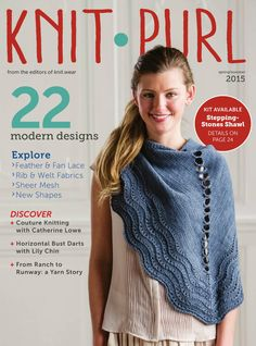 Knit Purl Spring-Summer 2016 - page web incomplet Love Knitting, Knitting Blogs, Knitting Projects, Knitting Daily, Hoodie Pattern, Tunic Pattern, Top Pattern, Pattern Books, Crochet Book Cover