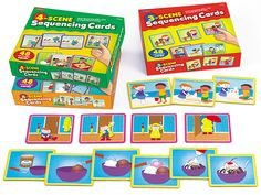 Story Sequencing Cards - Complete Set at Lakeshore Learning Sequencing Pictures, Sequencing Cards, Story Sequencing, Sequencing Activities, Activities For 6 Year Olds, Functional Literacy, Sequence Game, Best Kids Watches, Script Alphabet