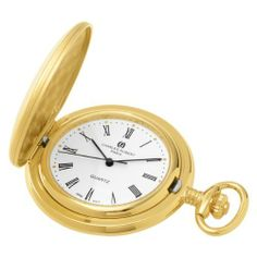 Charles-Hubert, Paris Gold-Plated Satin Finish Quartz Pocket Watch Charles-Hubert, Paris. $64.00