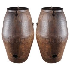 Archaic Indian Grain Vessels, circa 1900 | From a unique collection of antique and modern urns at https://www.1stdibs.com/furniture/building-garden/urns/