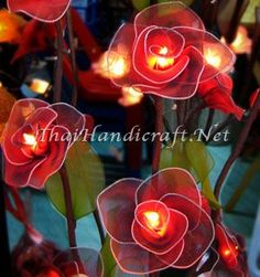 Beautiful Rose LED Tree Lights.