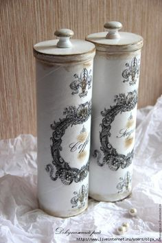 How to turn a Pringles can into this beauty Decoupage Jars, Decoupage Vintage, Tin Can Crafts, Diy And Crafts, Pringles Can, Recycle Cans, Shabby Chic Crafts, Diy Art, Tricks