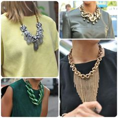 Milan Fashion Week #StreetStyle #Collage #Fashion #MFW #MilanFashionWeek #StatementNecklaces