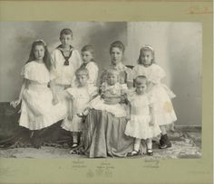 Archduchess Marie-Valerie (the daughter of Empress Sissi) with her children