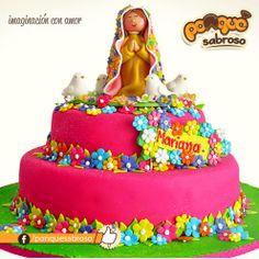 Tortas decoradas por @Ponqué Sabroso para Primeras comuniones, total imaginación con amor, visita nuestro sitio web : www.ponquesabroso.com.co #customcake #cakes #tortas #cumple #primeracomunion