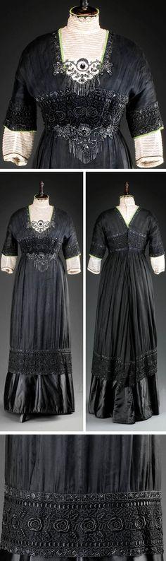 Silk Dress, Prague, circa 1912. Photo: Kocourek Andrew, Gabriel Urbanek. Museum of Decorative Arts, Prague, via eSbirky.cz.