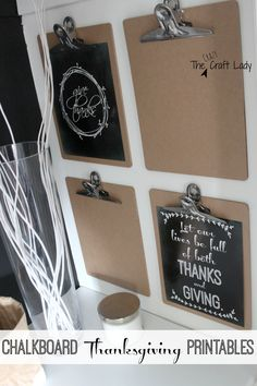 FREE Thanksgiving Chalkboard Printables