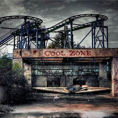 Bone Chilling Photos Of Abandoned Places Left To Rot And Decay - - This photo looks like a scene out of the TV series, American Horror Story. This amusement park opened in and was originally known as Jazzland. Abandoned Castles, Abandoned Mansions, Abandoned Buildings, Abandoned Places, Abandoned Vehicles, Abandoned Theme Parks, Abandoned Amusement Parks, Amusement Park Rides, Legends And Myths