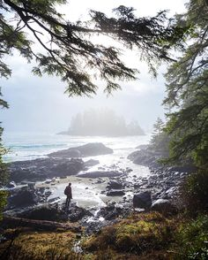 A brief moment of sun light shining through while exploring the shores of Pacific Rim National Park. I was pretty upset by the amount of… Pacific Coast, Pacific Northwest, West Coast, Vancouver Island, Oh The Places You'll Go, Places To Visit, Canada Travel, Landscape Photography, Amazing Photography