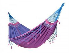LA SIESTA Copa Samurai Blue Fabric Hammock at Lowe's. This high-quality double hammock is made from pure organic cotton. It unites traditional Brazilian craftsmanship with quality and exceptional comfort. Indoor Hammock Bed, Hanging Hammock Chair, Diy Hammock, Hammock Swing, Samurai, Agriculture, Brazilian Hammock, Double Hammock, Shopping