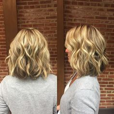 Blonde Wavy Long Bob with Short Layers