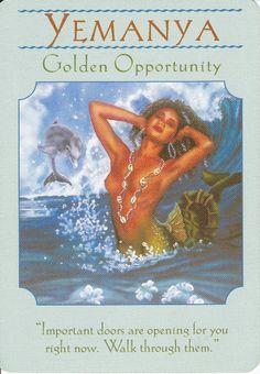 Yemanya; Goddess Guidance Oracle Cards; Doreen Virtue