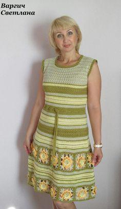 Hand Crochet, Knit Crochet, Crotchet Dress, Crotchet Patterns, Summer Patterns, Flare Skirt, Crochet Clothes, Missoni, Knitting