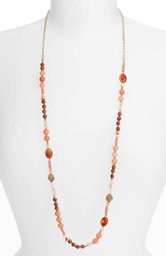 Nordstrom Pebbles Long Beaded Necklace